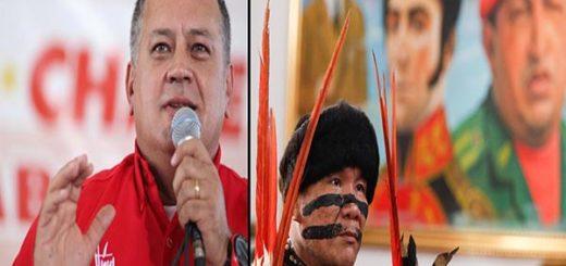 Diosdado Cebllo asegura que Chávez liberó a los indígenas |Fotomontaje