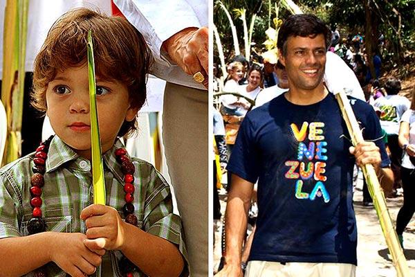 Leopoldo y su hijo |Foto: La Guarimba