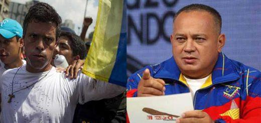 Leopoldo López / Diosdado Cabello   Fotomontaje