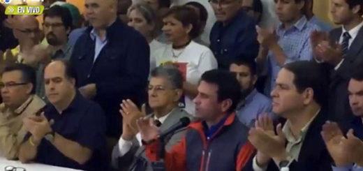 MUD se pronuncia sobre suspensión del 20% y anuncia manifestación
