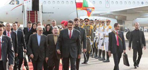 Maduro arribó a la República Islámica de Irán | Foto: @PresidencialVen