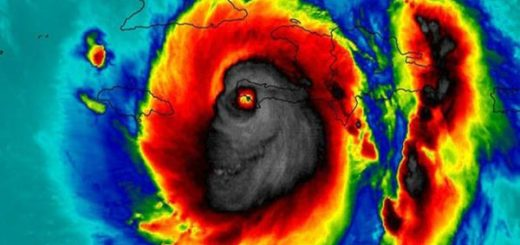Huracán Mattehw en forma de calavera |Foto: BBC Mundo