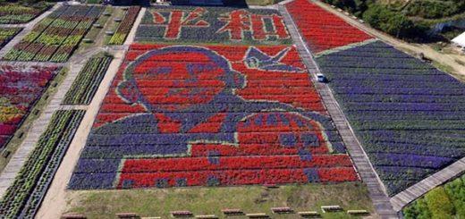 Hiroshima conmemora visita de Barack Obama con  un busto realizado por 200.000 flores |Foto: EFE