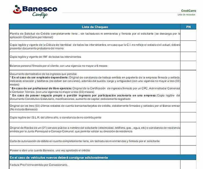 credito de carros usados banco banesco