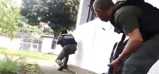 GNB intentó tomar la PGV | Foto: Captura de video
