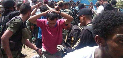 Reos de la PGV durante el desalojo del penal | Foto: @francox44