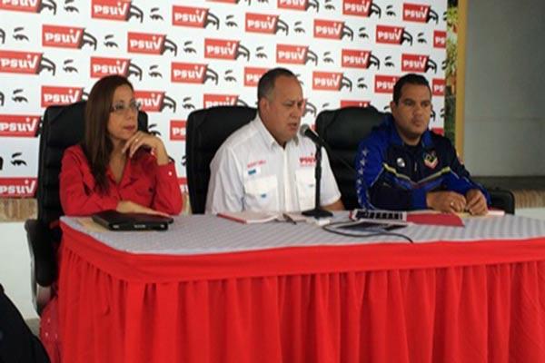 Diosdado Cabello en rueda de prensa |Foto: Sumarium