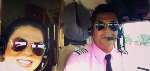 Piloto María Del Mar Dosil y capitán Gustavo Jesús Mosquera   Foto: @mar_dosil