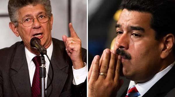 Henry Ramos Allup / Nicolás Maduro | Composición: Notitotal