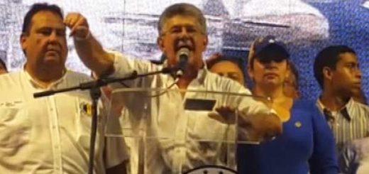Henry Ramos Allup durante Asamblea ciudadana en Maracaibo | Foto: Captura de video