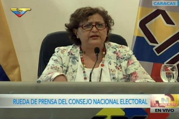 Tibisay Lucena anuncia fecha para elecciones regionales |Foto cortesía