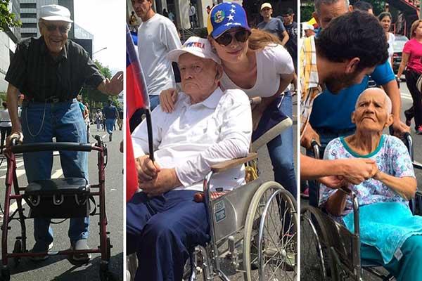 Abuelos dijeron presente en #LaTomaDeVenezuela| Foto: Maduradas