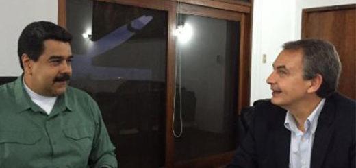 Nicolás Maduro y Rodríguez Zapatero | Foto: @DrodriguezVen