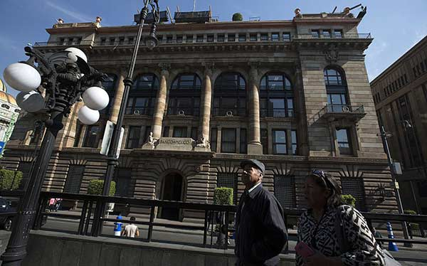 Banco Central de México en la capital | Foto: Susana Gonzalez / Getty Images)