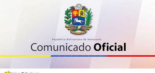Comunicado de la República Bolivariana de Venezuela |Imagen cortesía
