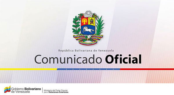 Comunicado de la República Bolivariana de Venezuela