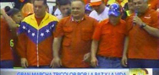 Pedro Carreño en marcha oficialista en Portuguesa | Foto: Captura de video