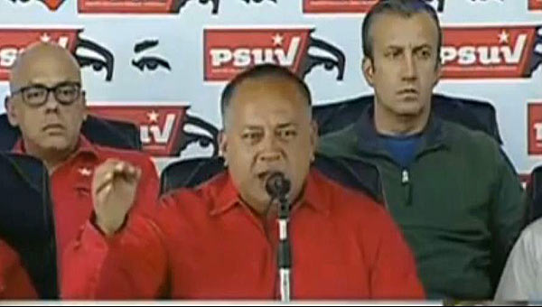 Diosdado Cabello en rueda de prensa | Foto: captura de video