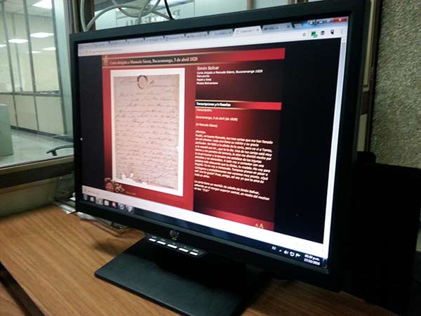 Nueva plataforma digital del Archivo del Libertador | Foto: Panorama
