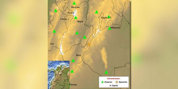 Dos fuertes sismos sacudieron Bogotá y otras zonas de Colombia | Foto: Servicio Geológico de Colombia