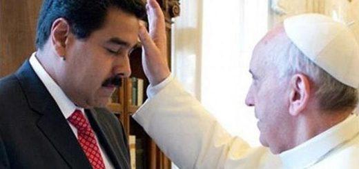 Nicolás Maduro y el Papa Francisco | Foto:  @VillegasPoljak