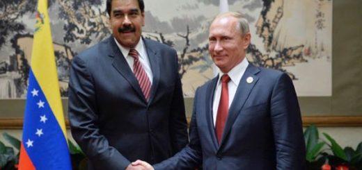 Nicolás Maduro y Vladimir Putin | Foto referencial: EFE