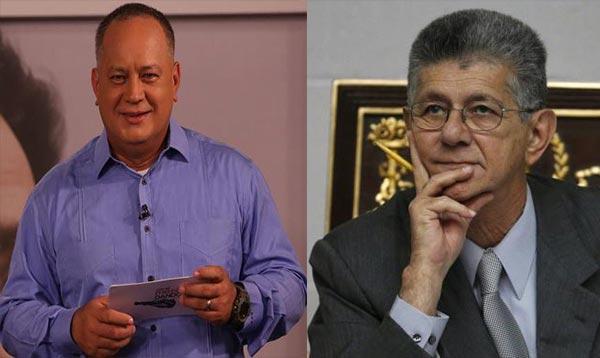 Diosdado Cabello / Ramos Allup | Fotomontaje