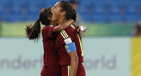 La venezolana Deyna Castellanos se convirtió en la máxima goleadora de mundiales Sub-17   Foto: Cortesía