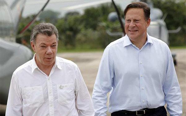 Encuentro entre los presidentes de Panamá, Juan Carlos Varela, y de Colombia, Juan Manuel Santos en Panamá   EFE