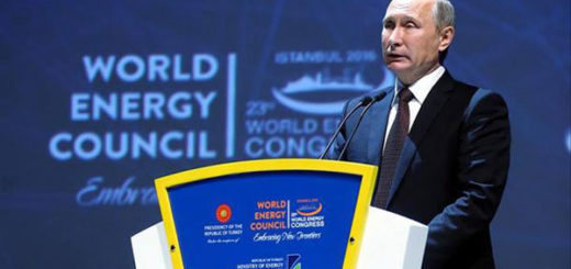 Vladimir Putin en el Consejo Mundial de Energía | Foto: EFE