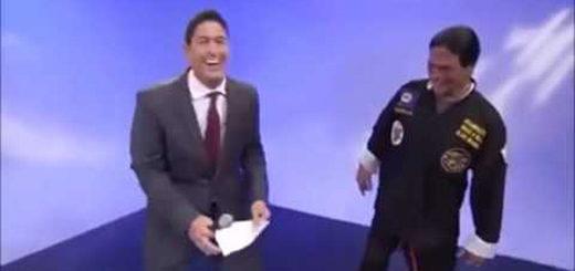 presentador de tv expone a falso maestro Kung-Fu | Foto: Captura de video