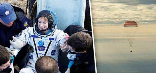 Astronáutas llegan a la Tierra tras misión de 4 meses | Imagen: Reuters/EPA