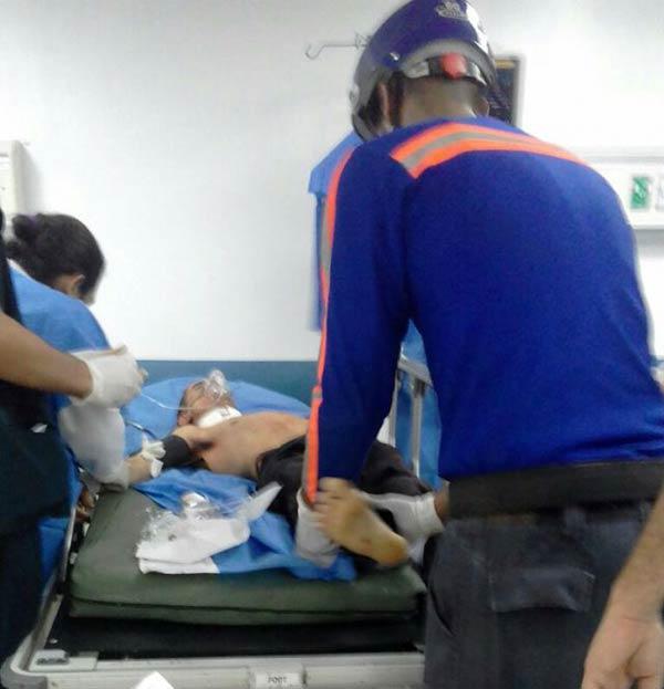 Tony Antonio Cañizales (26), se cortó el cuello   Foto: Caraota Digital