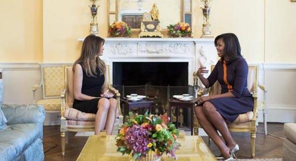 Malania Trump y Michell Obama | Foto cortesía