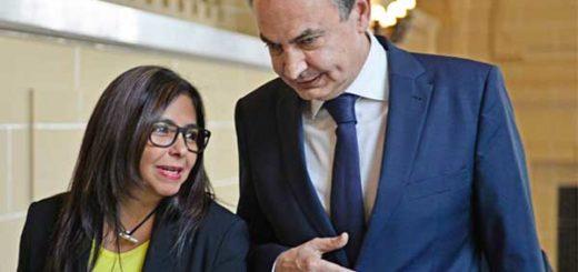 Delcy Rodríguez y Zapatero |Foto arhivo