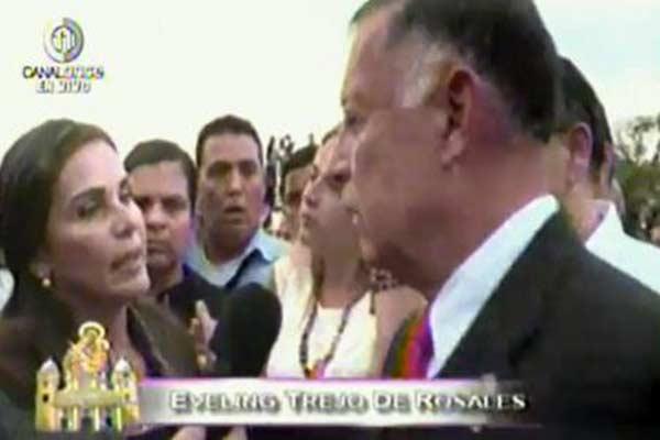 Eveling Trejo, acaldesa de Maracaibo recibió golpes de la GNB en la Basílica |Foto: Nora Bracho