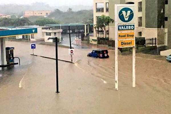 Torrencial aguacero en Aruba deja terribles inundaciones |Foto: Twitter