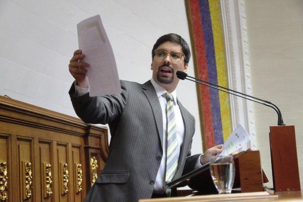 Freddy Guevara diputado ante la AN por la MUD |Foto: Nota de prensa