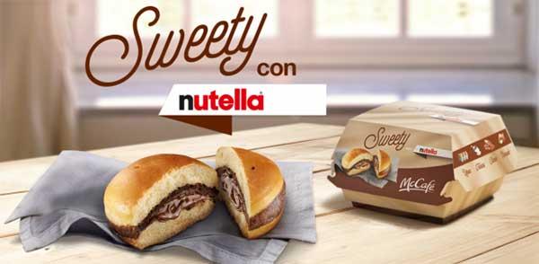 Hamburguesa de Nutella | Foto: Mc Donald's Italia