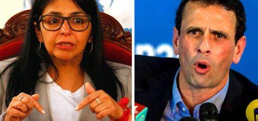 Canciller Delcy Rodríguez / Capriles Radonski | Composición Notitotal