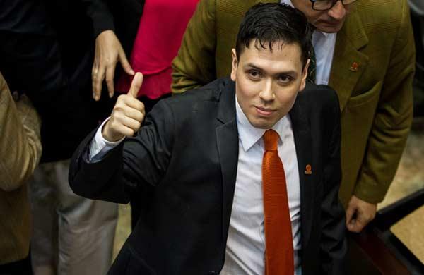 Rosmit Mantilla al salir de la cárcel del Helicoide se juramenta como diputado de la AN|Foto: EFE