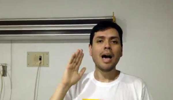 Rosmit Mantilla tras su liberación   Foto: Captura de video