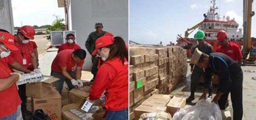Seniat declaró en abandono legal carga de medicamentos de Cáritas de Venezuela | Foto: @SENIAT_Oficial