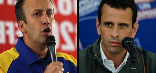 Tareck El Aissami / Henrique Capriles   Composición Notitotal
