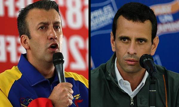 Tareck El Aissami / Henrique Capriles | Composición Notitotal