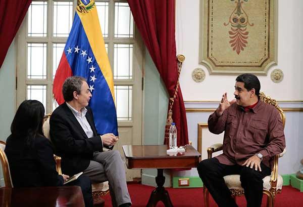 José Luis Rodríguez Zapatero se reúne con el presidente Nicolás Maduro | Foto: @PresidencialVen
