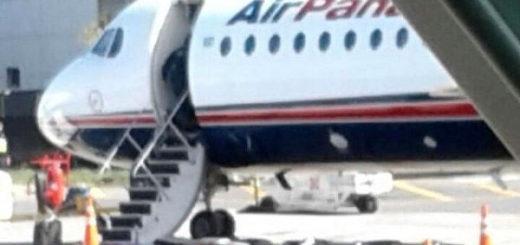 """El avión de la Aerolínea Air Panamá fue evacuado por susto """"bomba"""""""