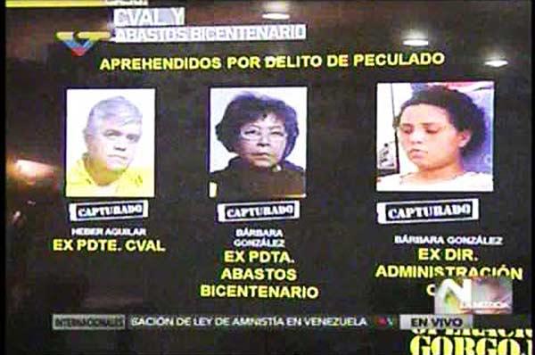 Directivos de CVAL y Abastos Bicentenario |Foto: Captura