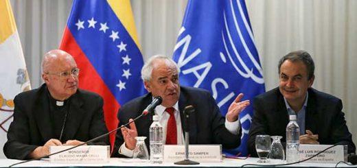 Monseñor Celli, Ernesto Samper y José Luis Rodríguez Zaptero | Foto: Reuters