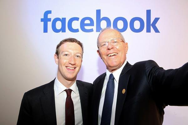 El presidente Pedro Pablo Kuczynski (PPK) se reunió con el creador de Facebook, Mark Zuckerberg
